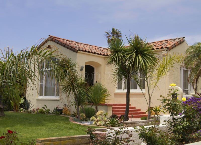 Hus för sydliga Kalifornien havstrand royaltyfria foton