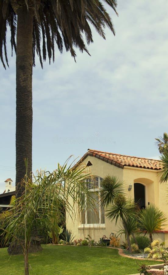 Hus för sydliga Kalifornien havstrand arkivfoto