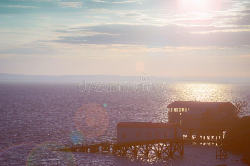 Hus för Tenby livfartyg royaltyfria foton