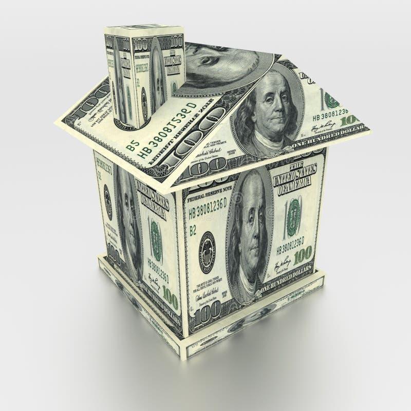 Hus från pengar royaltyfria bilder