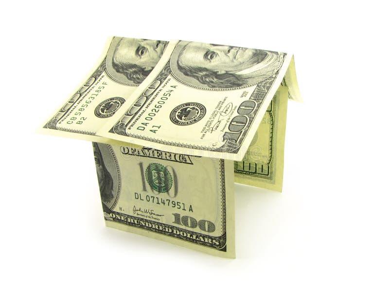 Hus från pengarna royaltyfria bilder