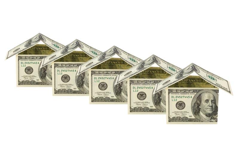 hus gjorde pengar arkivbilder