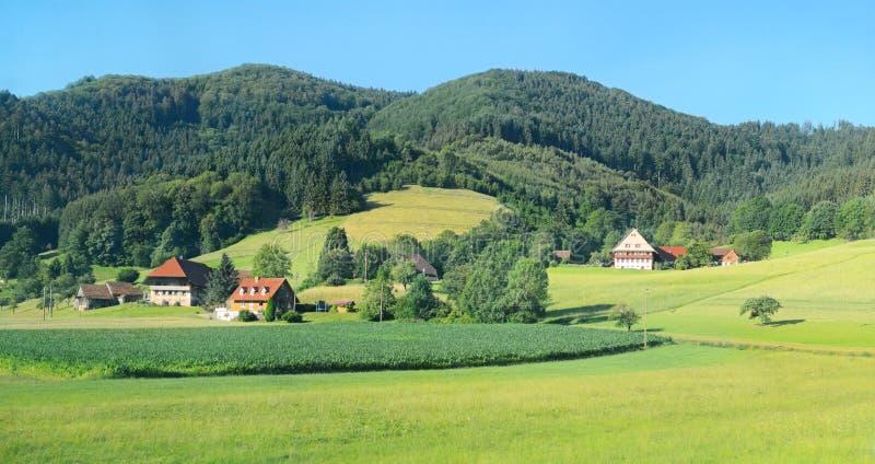 Hus i bergen arkivbilder