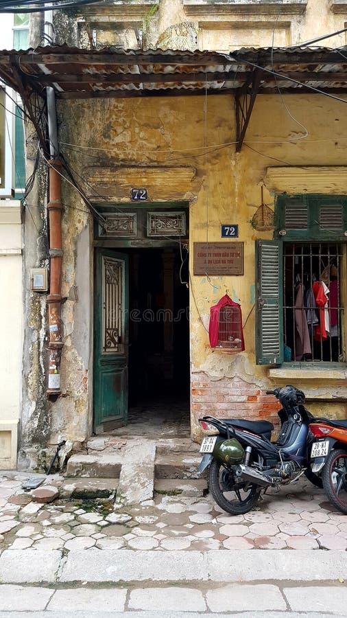 Hus i Hanoi royaltyfri bild
