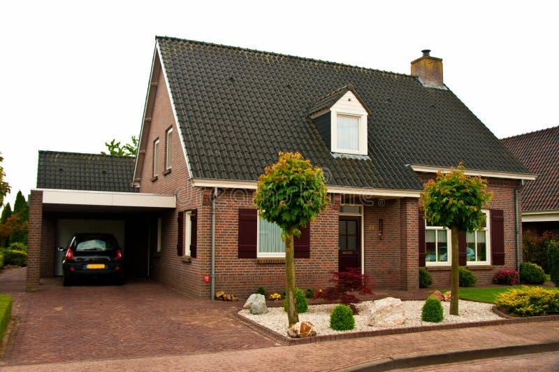 Hus i Holland arkivbild