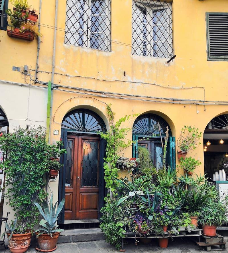 Hus i Italien, Tuscany arkivbilder