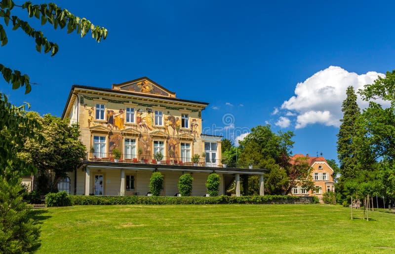 Hus i Konstanz, Tyskland, Baden-Wurttemberg royaltyfri fotografi