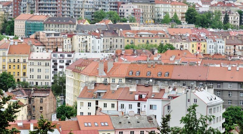 Hus i Prague royaltyfria foton