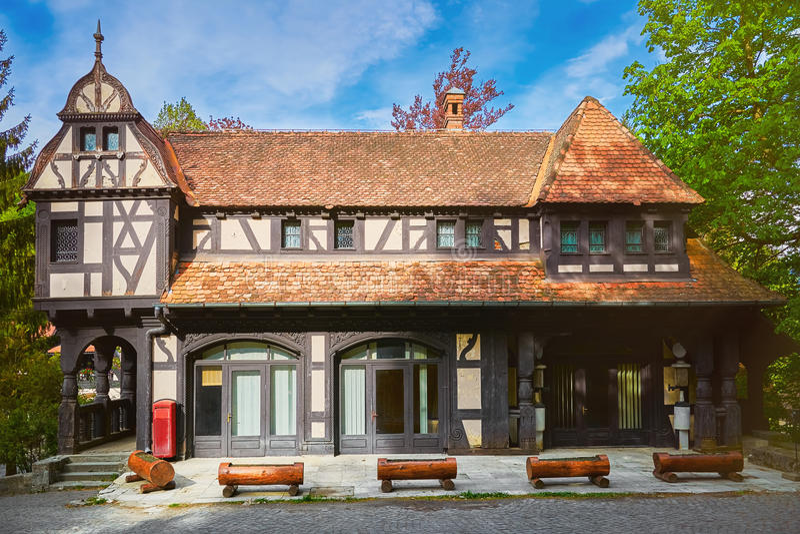 Hus i Sinaia arkivbilder