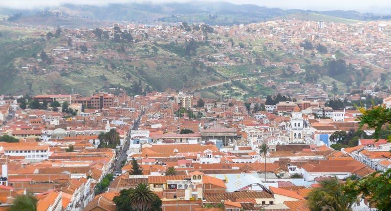 Hus i Sucre, Bolivia arkivbilder
