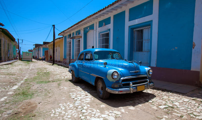 Hus i Trinidad, Kuba royaltyfria bilder