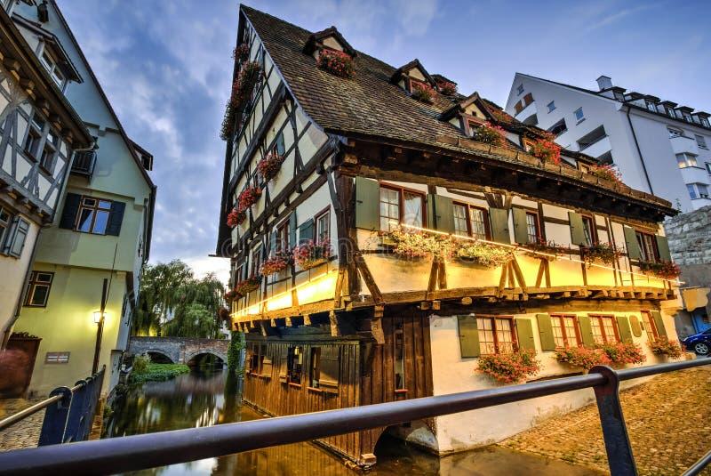 Hus i Ulm, Tyskland royaltyfri foto