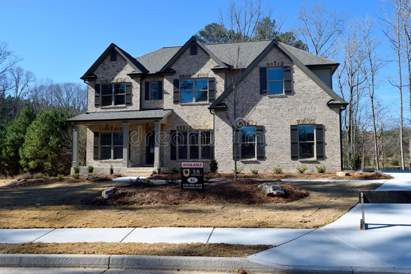 Hus i Watkinsville, Georgia royaltyfria foton