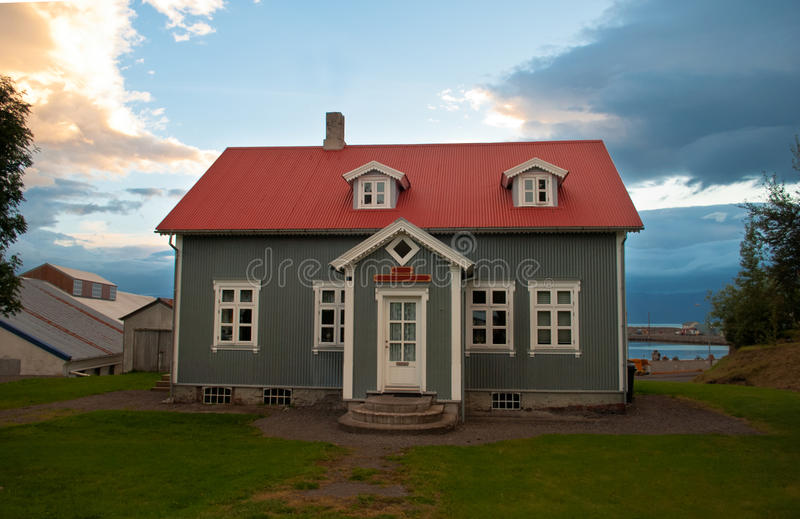 hus iceland royaltyfri fotografi