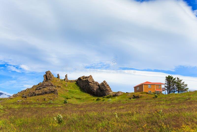 Hus Island. arkivfoto
