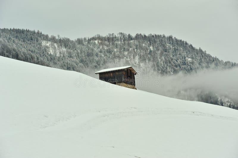 hus isolerad tidvinter arkivbild