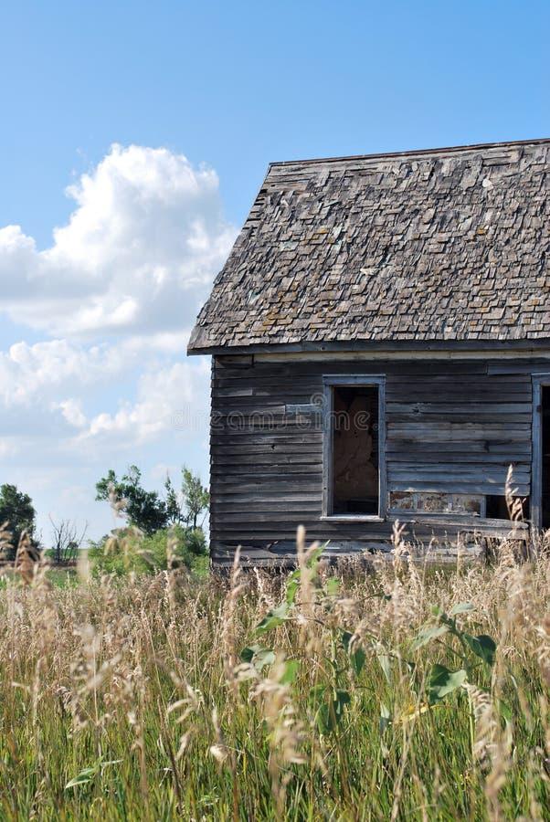 hus kansas little prärie fotografering för bildbyråer