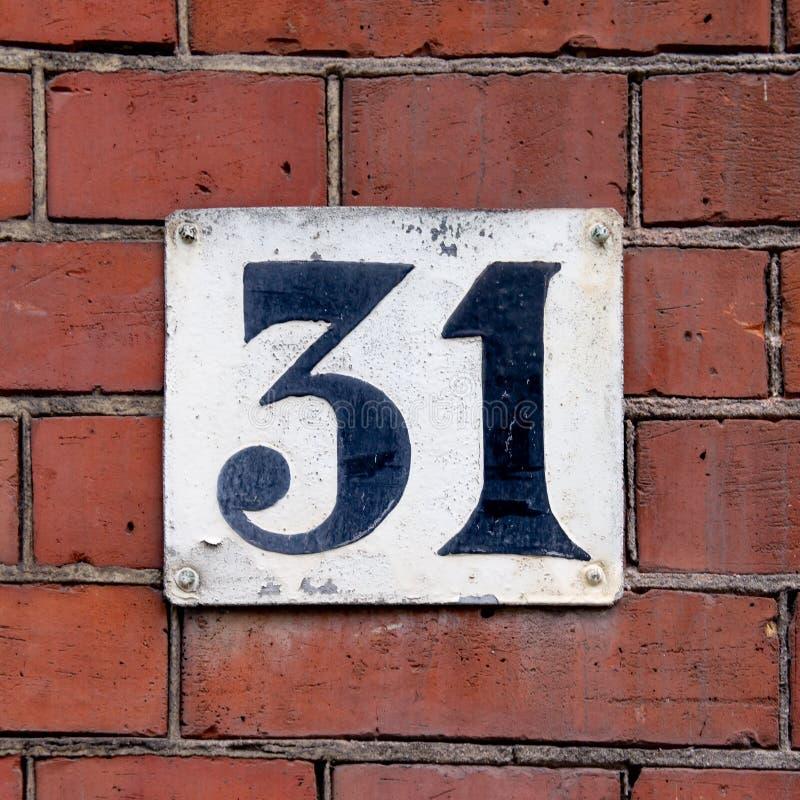 Hus nummer 31 royaltyfri bild