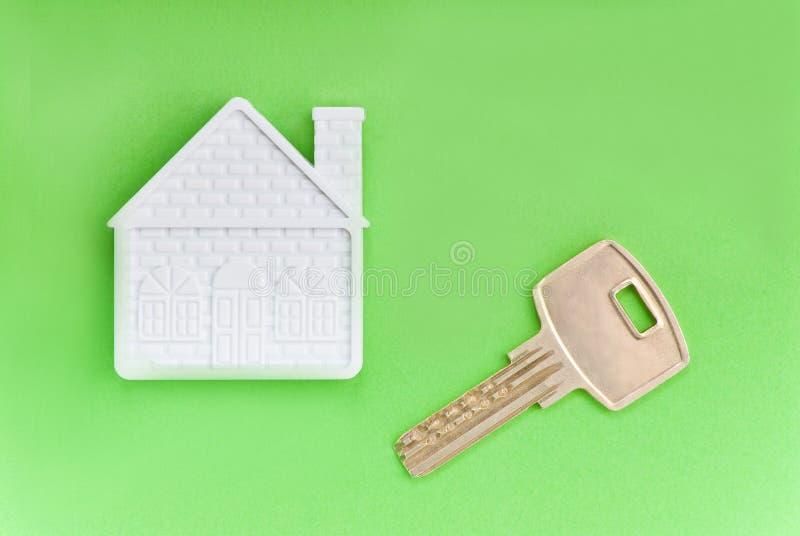 Hus och tangent royaltyfri foto