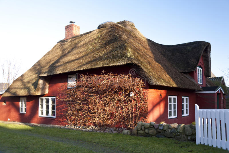 Hus på Amrum arkivfoton