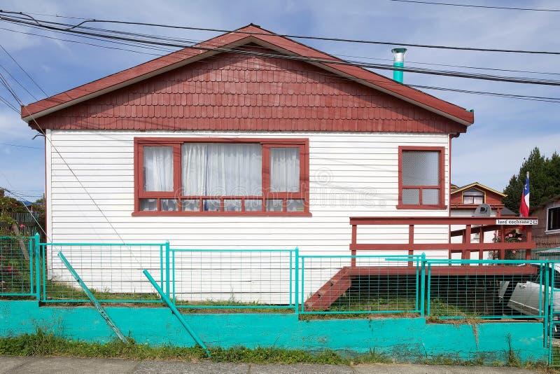 Hus på Ancud, Chiloe ö, Chile royaltyfri fotografi