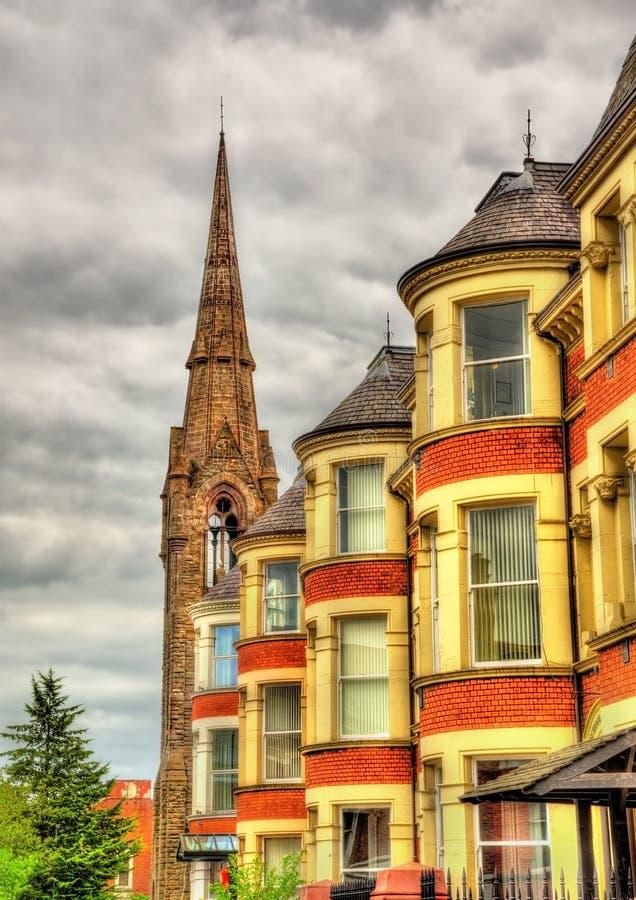 Hus på universitetstereet i Belfast royaltyfri fotografi