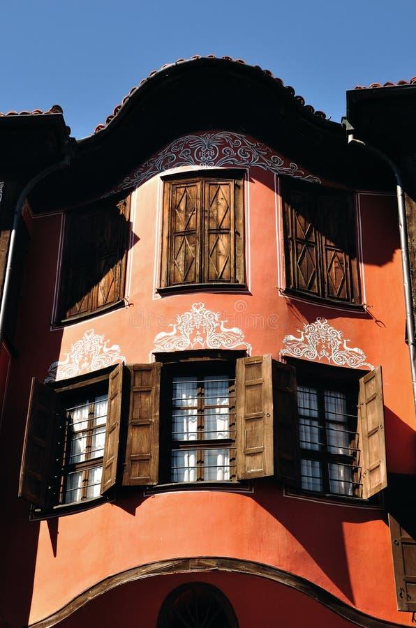 hus plovdiv fotografering för bildbyråer