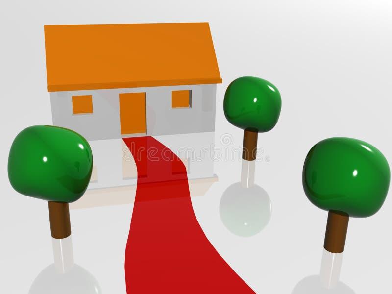 hus som går stock illustrationer