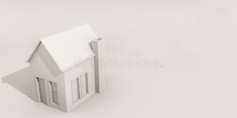 Hus som isoleras på vit bakgrund vektor illustrationer