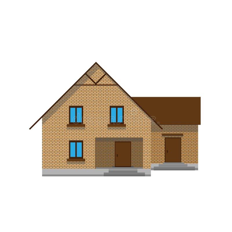 Hus som skapar en streetscape Plan vektorfärgillustration arkivbilder