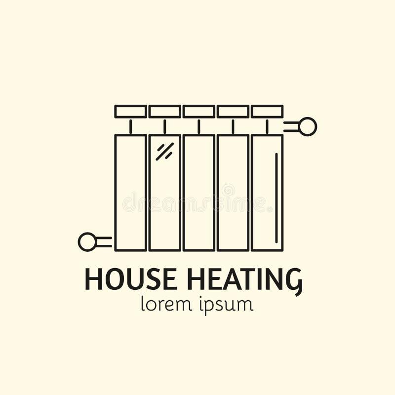 Hus som värmer Logo Template royaltyfri illustrationer