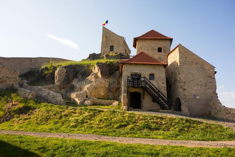 Hus uppifrån av den Rupea fästningen från det Brasov länet, Rumänien royaltyfri fotografi