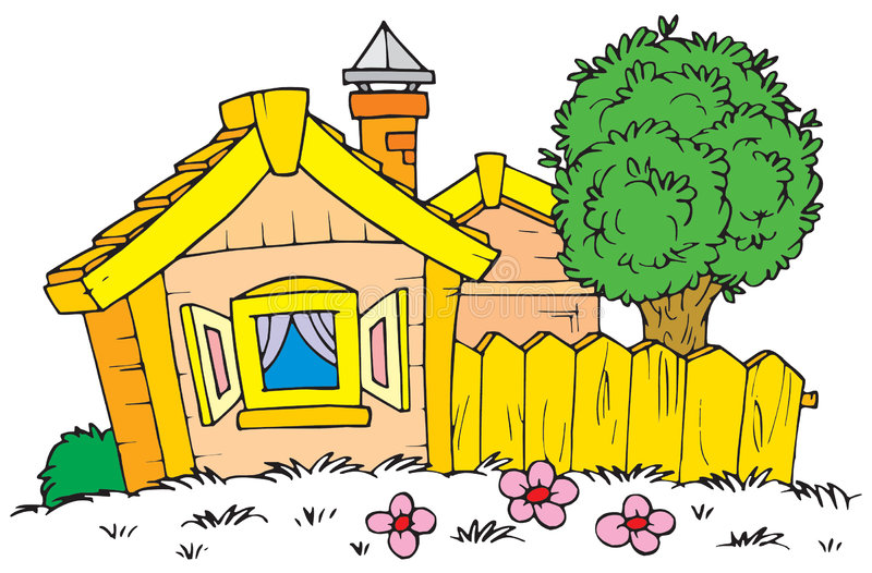 Hus (vektorgem-konst) royaltyfri illustrationer