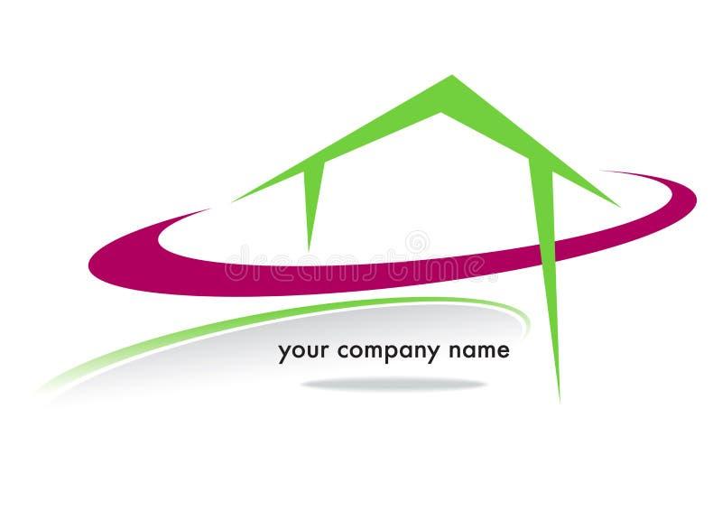 Husaffärsmärke vektor illustrationer