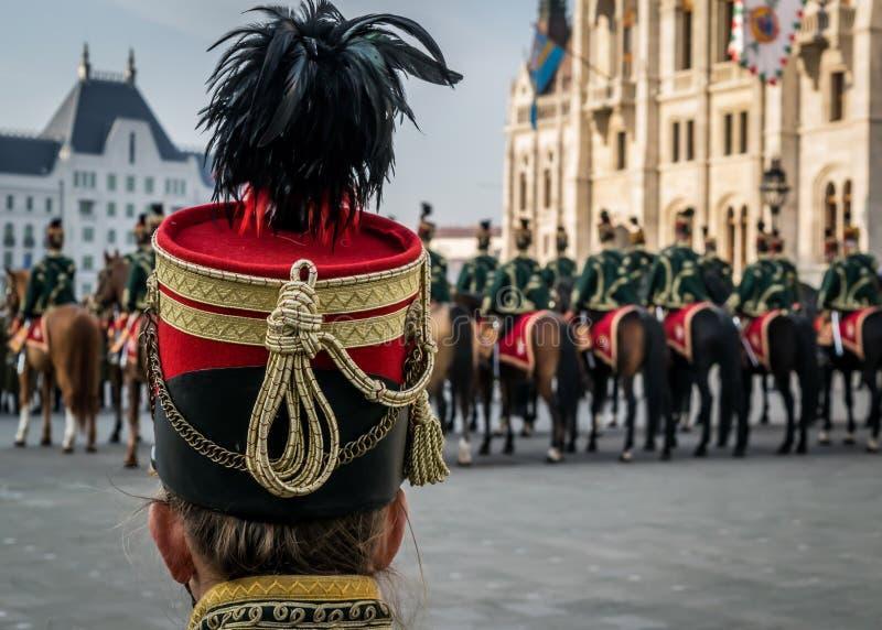 Husara tradycyjny militarny kapeluszowy zbliżenie fotografia stock