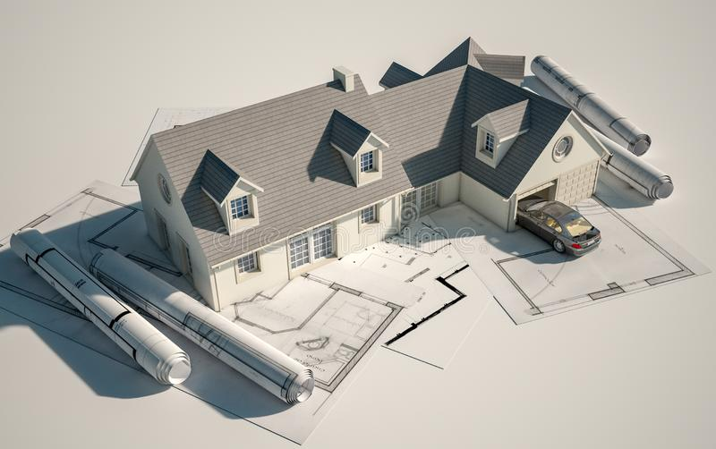 Husarkitektur vektor illustrationer