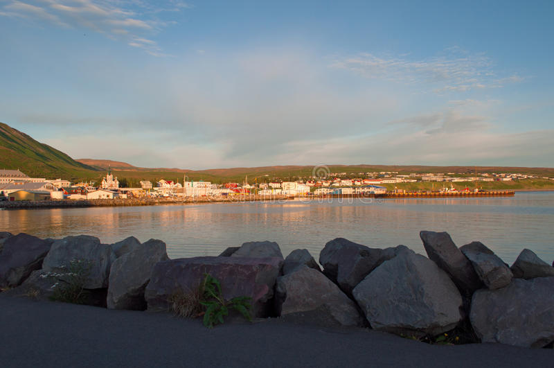 Husavik,冰岛,北欧 免版税库存图片