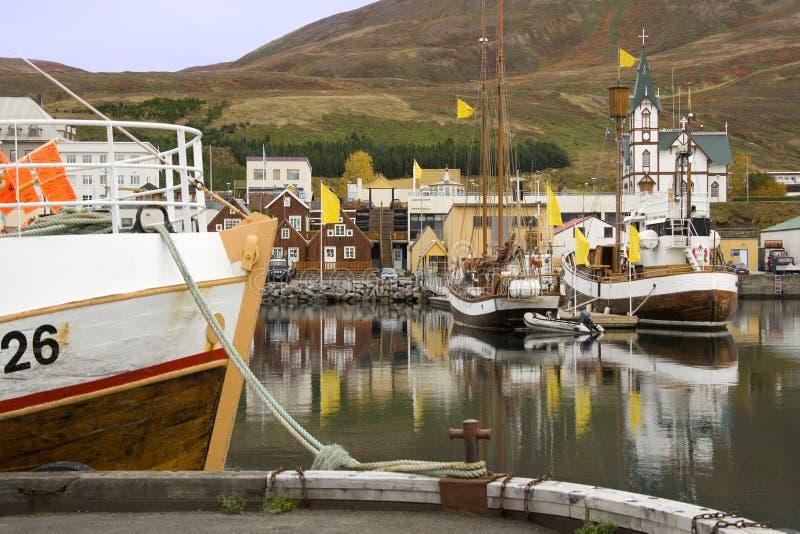 husavik Исландия гавани стоковая фотография