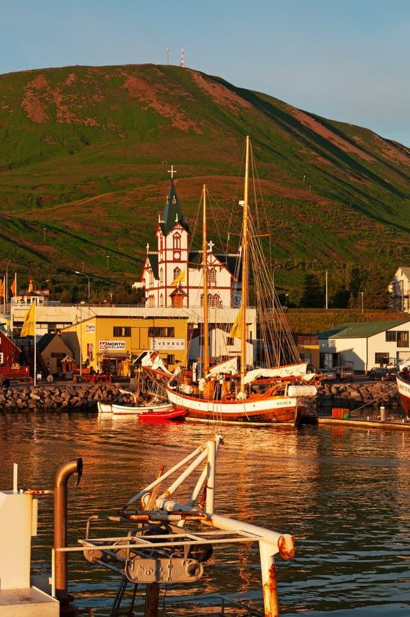 Husavik, Исландия, Северн Северный стоковое изображение