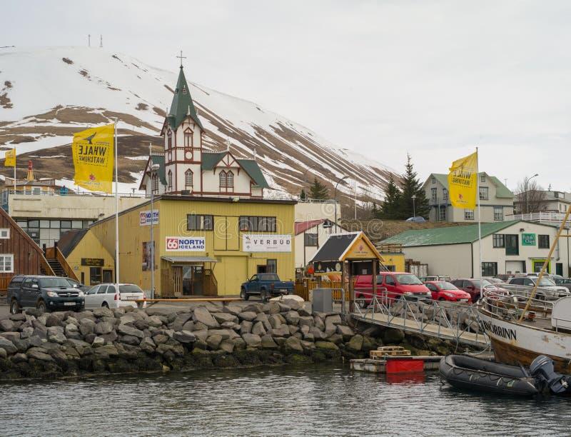 Husavik Islanda fotografie stock libere da diritti
