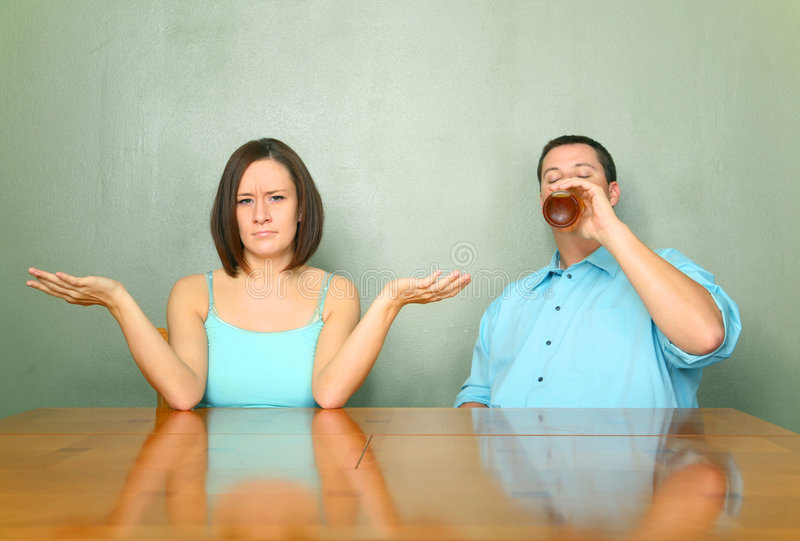 Download Husband With Drinking Problem Stock Photo - Image: 7453482