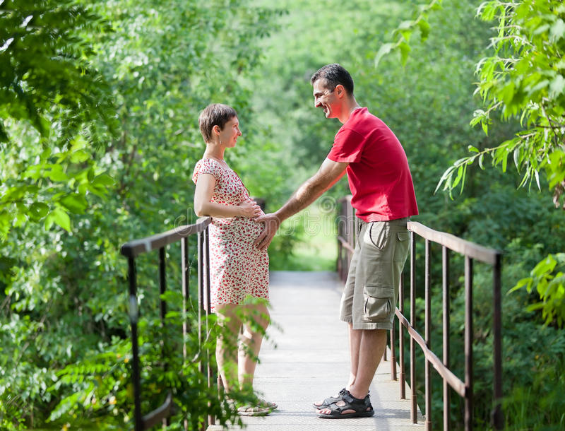 Download Husband With His Wife On The Bridge Stock Image - Image: 21103041