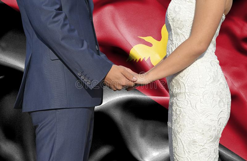 Husband and Wife holding hands - Conceptual photograph of marriage in Papua New Guinea royalty free stock photography