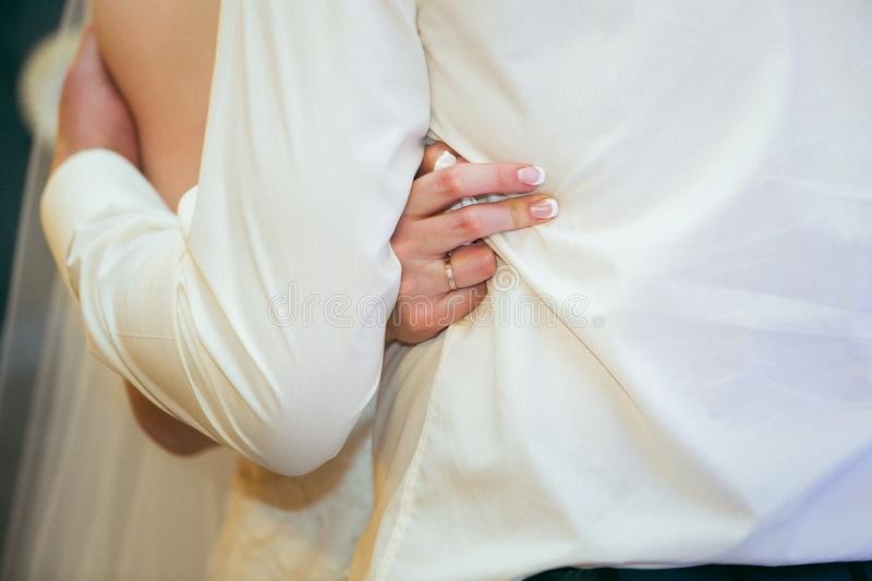 Husband and wife hugging.  royalty free stock images