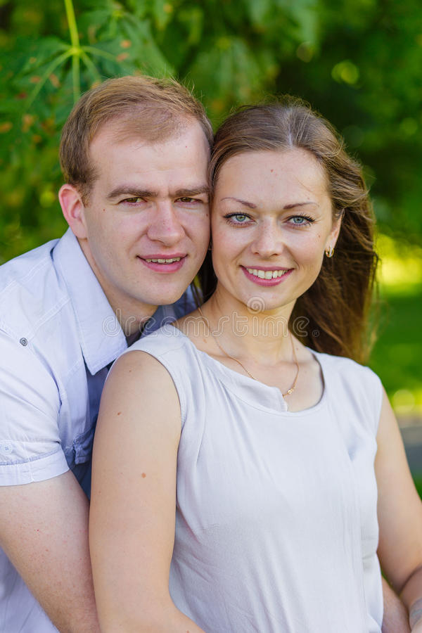 Download Husband And Wife On The Nature Stock Image - Image of smiles, dress: 83719161