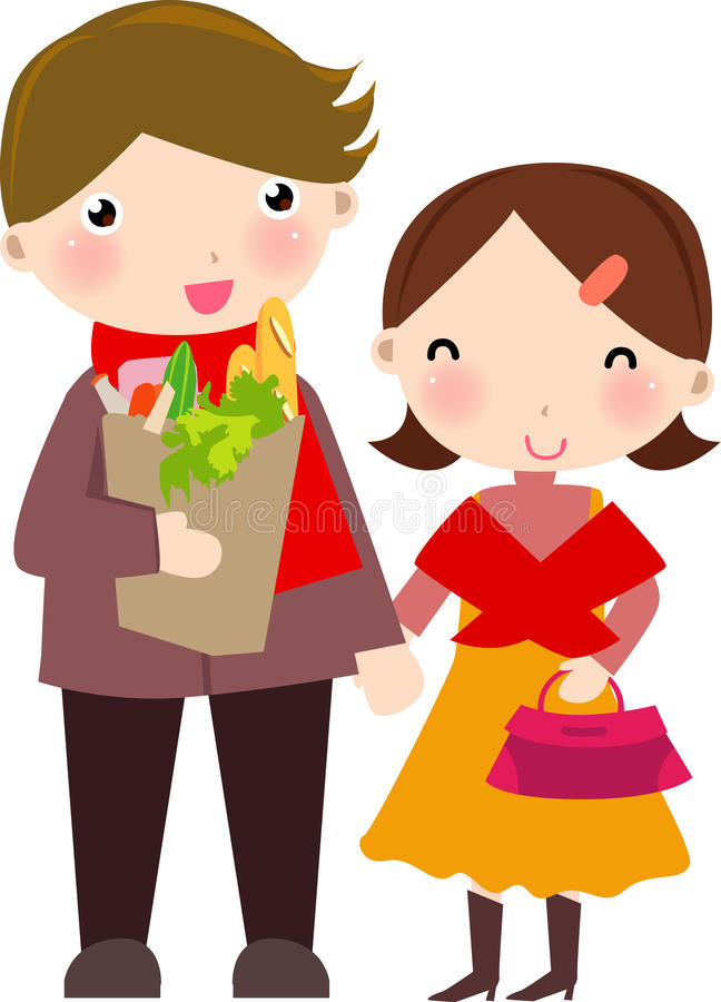 husband and wife shopping stock vector illustration of fashion rh dreamstime com housewife clipart angry wife clipart