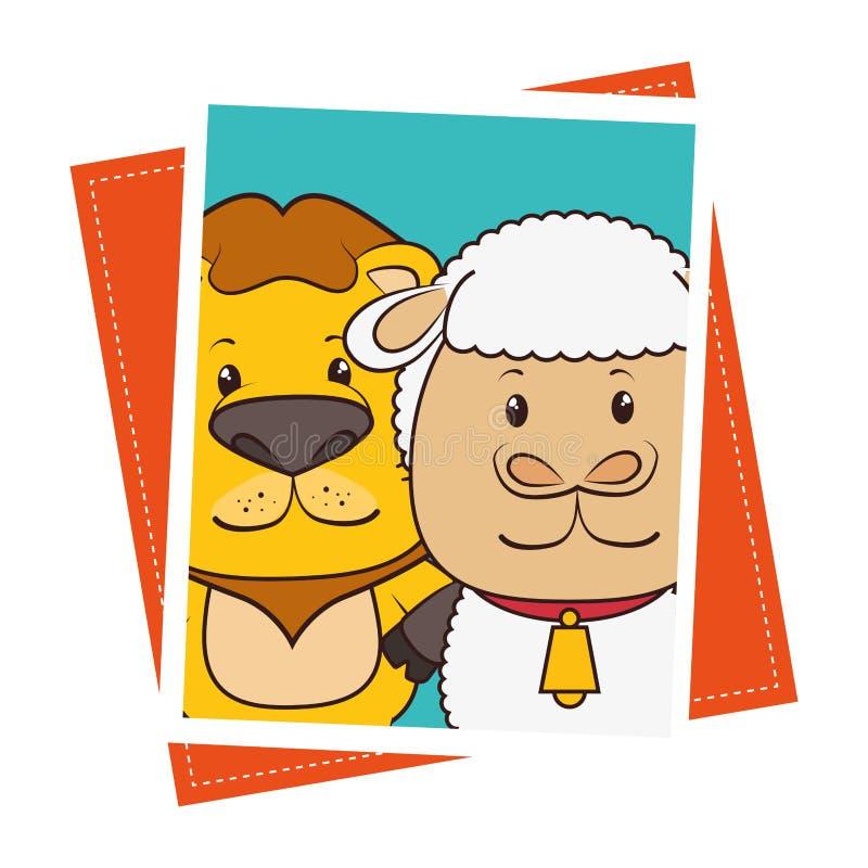 Husdjur och rolig tecknad film för djur royaltyfri illustrationer