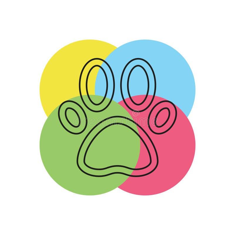 Husdjur tafsar tryckvektorsymbolen stock illustrationer