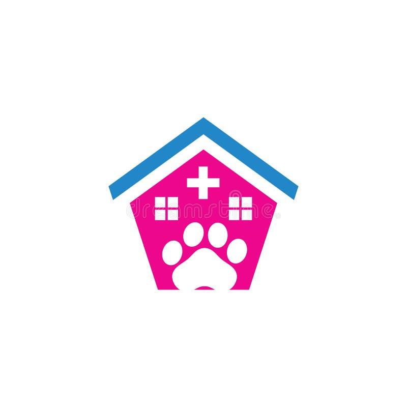 Husdjuret shoppar omsorgkliniklogo royaltyfri illustrationer