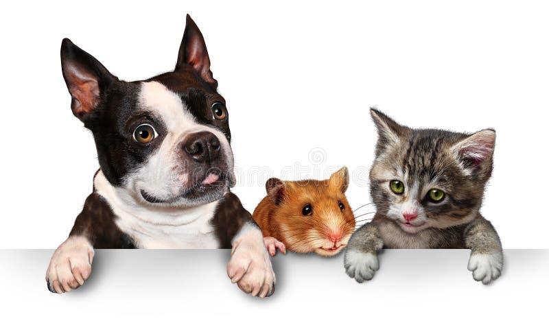 Husdjurtecken royaltyfri illustrationer